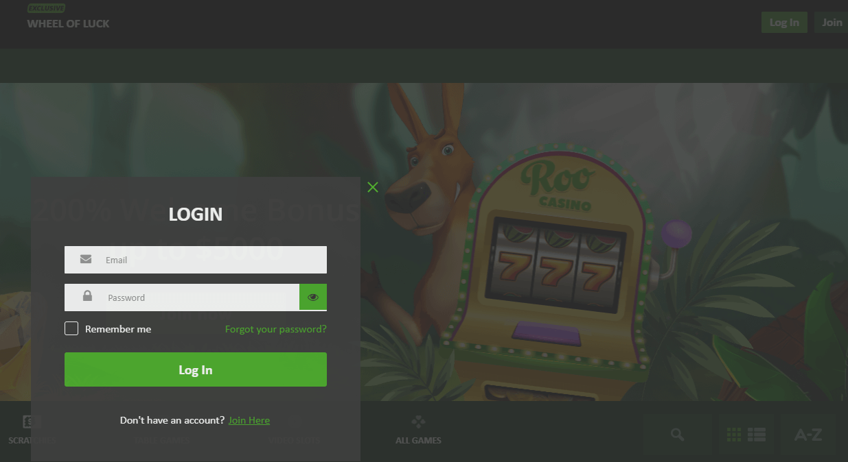 Roo Casino Login