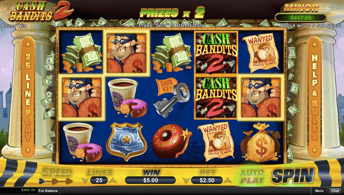 cash bandits 2 rtg pokie