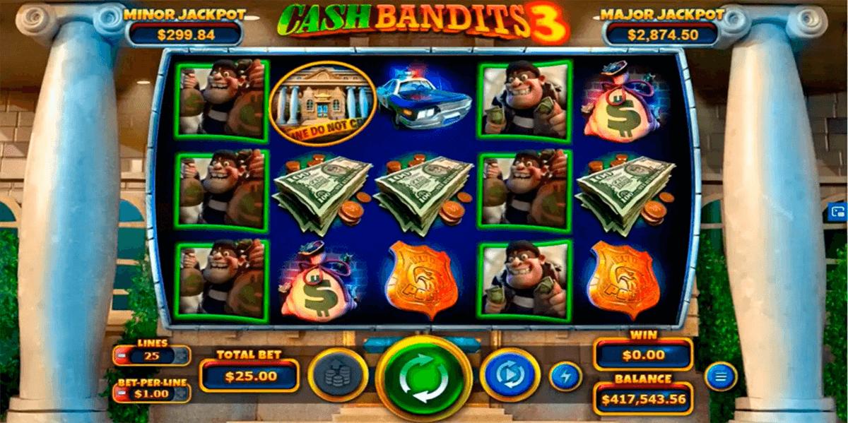 cash bandits 3 rtg pokie