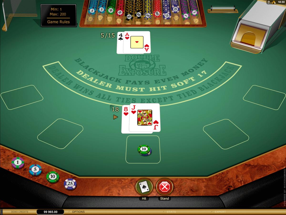 double exposure blackjack gold microgaming online