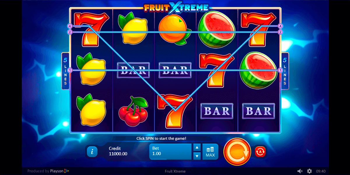 fruit xtreme playson pokie