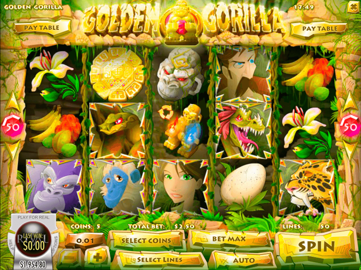 golden gorilla rival pokie