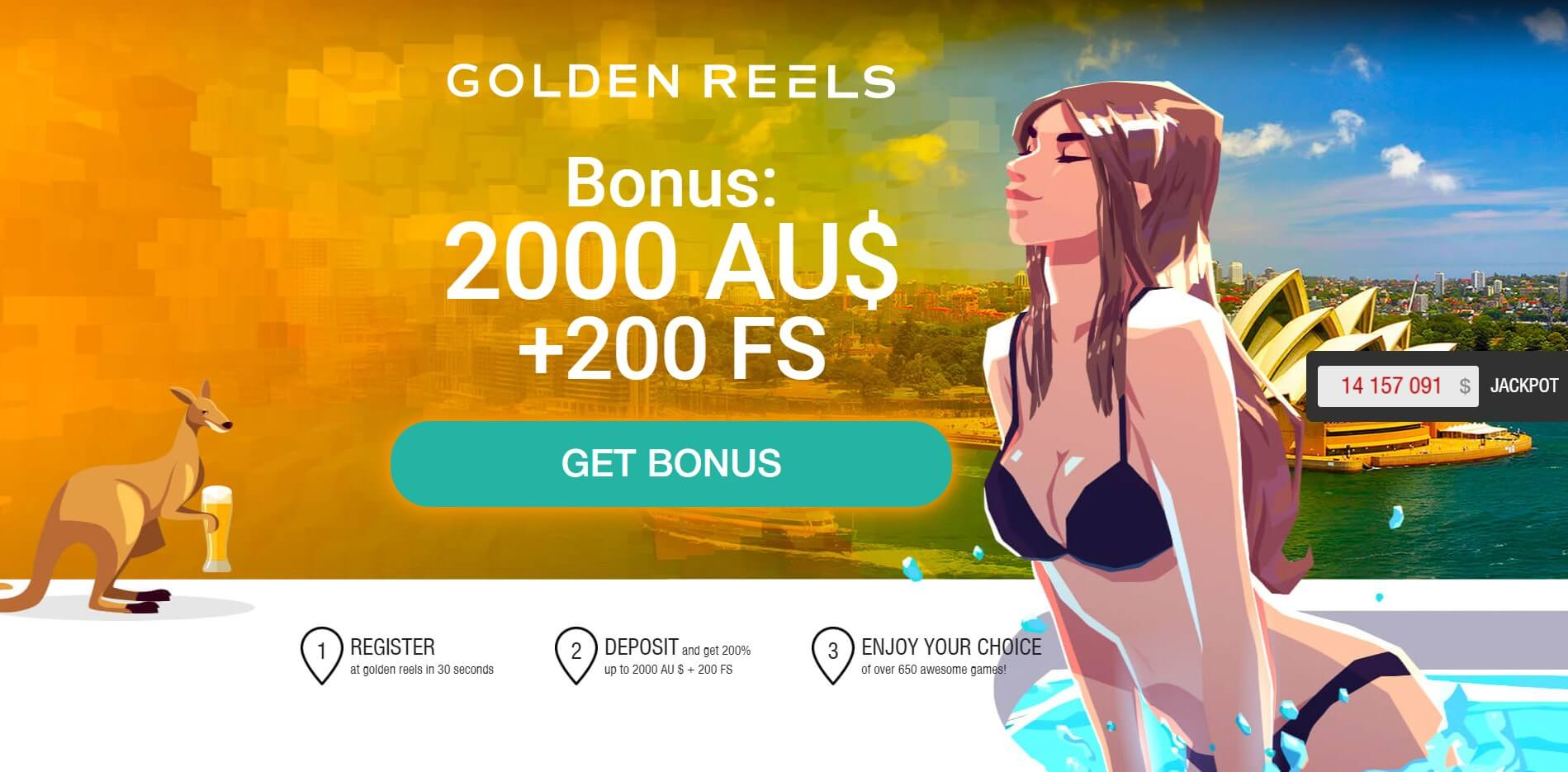 Golden Reels Casino Bonuses Screenshot