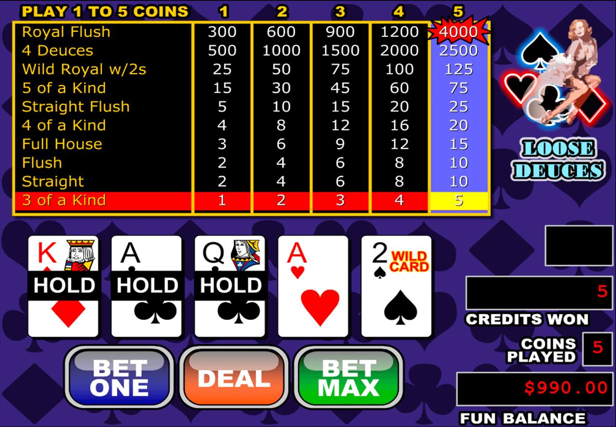 loose deuces video poker rtg