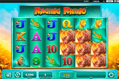 raging rhino wms pokie