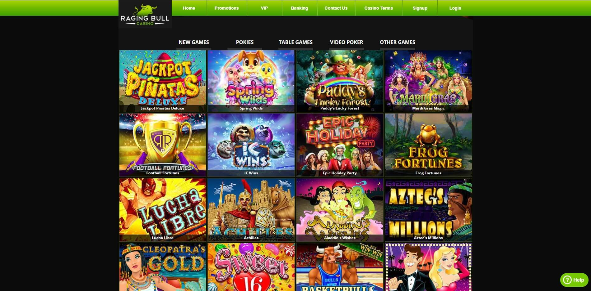 Raging Bull Casino Games Screenshot