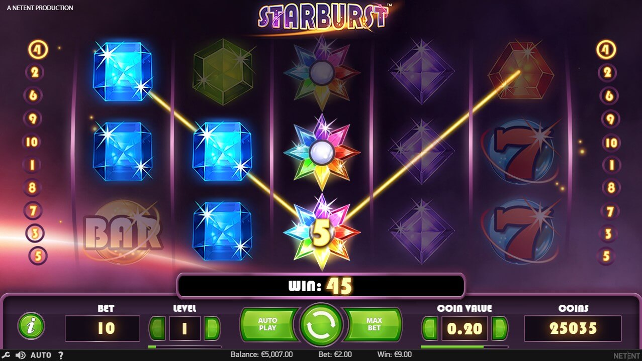 Starburst Online Slot Screenshot